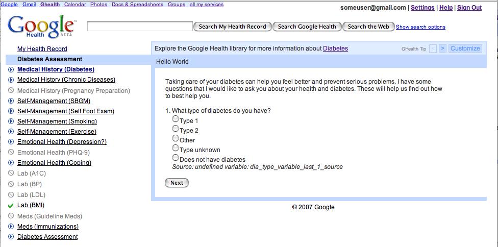 Google Health Beta