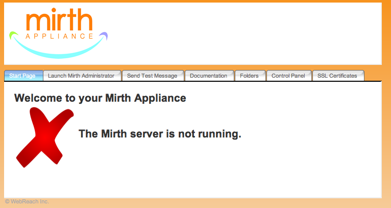 New Mirth Appliance Site