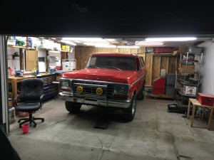 Bronco In Garage